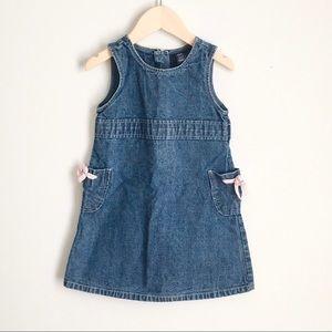 Baby Gap Retro Denim Sleeveless Summer Dress 3T